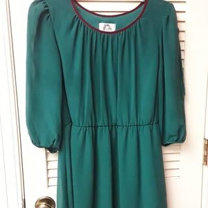 Green Emerald Boho Flowy Dress Sz L